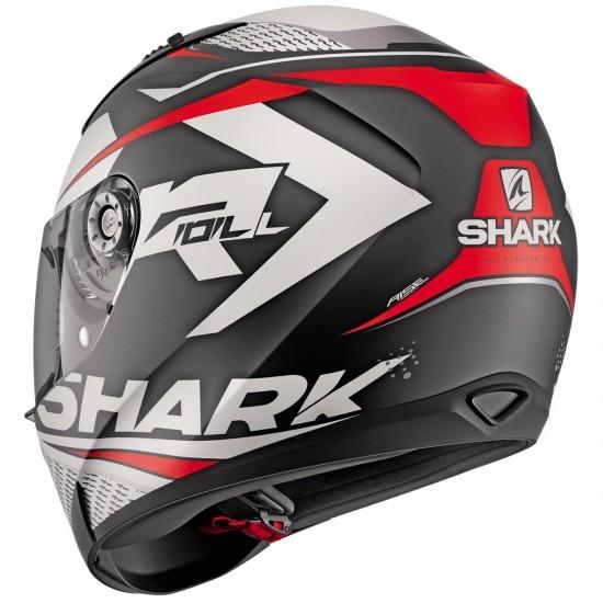 Capacete SHARK Ridill 1.2 Stratom Mat Black / White / Red