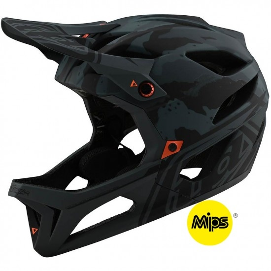 Casco TROY LEE DESIGNS Stage MIPS Camo Green