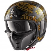 SHARK S-Drak Carbon Freestyle Cup Carbon / Gold / Gold