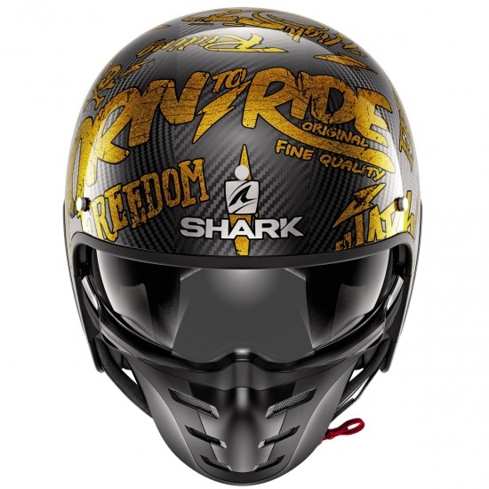 Casque SHARK S-Drak Carbon Freestyle Cup Carbon / Gold / Gold