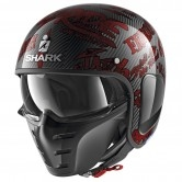 SHARK S-Drak Carbon Freestyle Cup Carbon / Red / Red