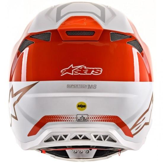 Casco ALPINESTARS Supertech S-M8 2020 Triple Orange Fluo / White / Gold