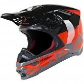 Supertech S-M8 Radium Red Fluo / Black / Mid Grey Glossy
