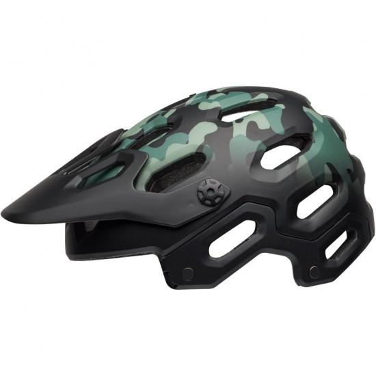 BELL Super 3 Oak Matte Black / Green Helmet