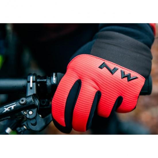 NORTHWAVE Power 3 Gel Pad Black / Red Gloves