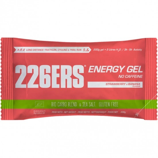 Ernährung 226ERS Energy Gel Bio 200gr. Strawberry & Banana