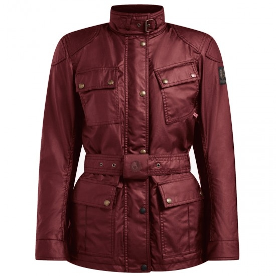Blouson BELSTAFF Trialmaster Pro Waxed Cotton Lady Racing Red