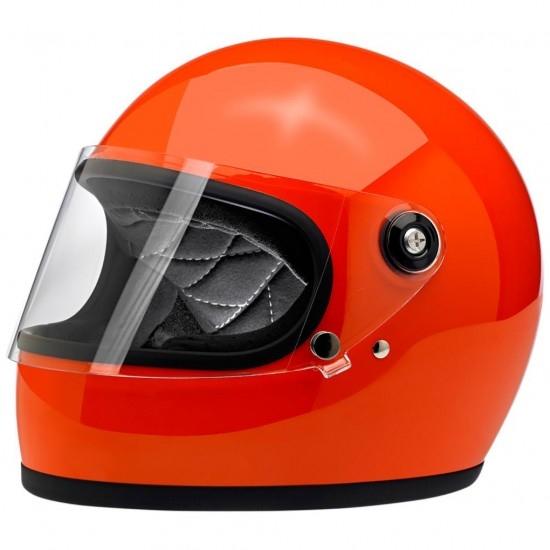 BILTWELL Gringo S Gloss Hazard Orange Helmet