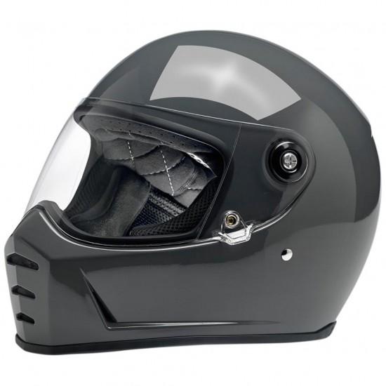 BILTWELL Lane Splitter Gloss Storm Grey Helmet