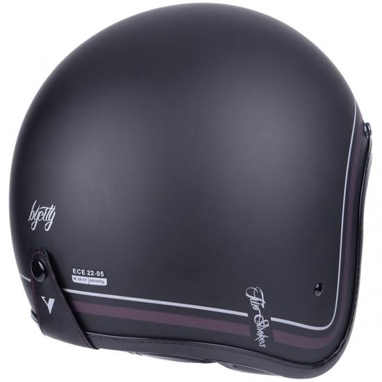 BY CITY Two Strokes Matt Black Helmet