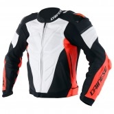 DAINESE Super Race Estiva White / Fluo-Red / Black-Matt