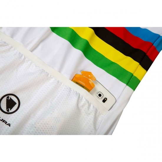 ENDURA Movistar Team World Champs S/S Limited Edition White Jersey