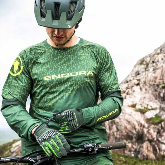 Maglia ENDURA MT500 L/S Print T Limited Edition Forest Green