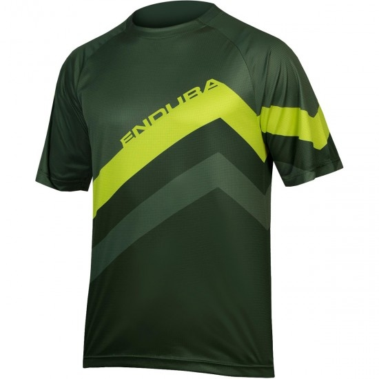 Maillot ENDURA SingleTrack Core Print Forest Green