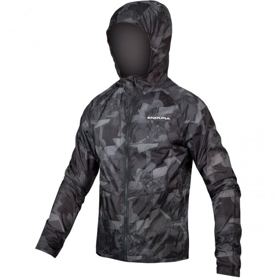 ENDURA Singletrack Durajak Grey Camo Jacket
