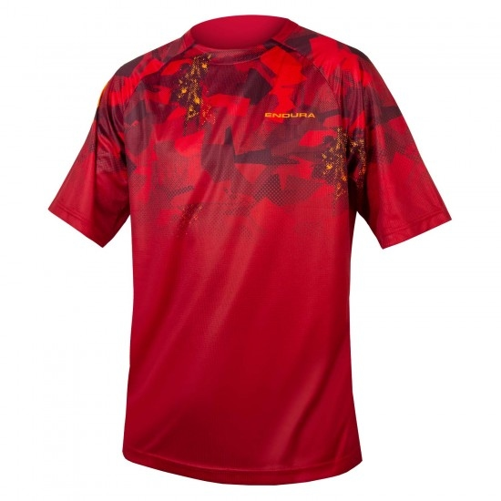Camisola ENDURA SingleTrack Print T Limited Edition Rust Red