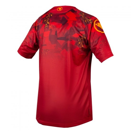 Bike Trikot ENDURA SingleTrack Print T Limited Edition Rust Red