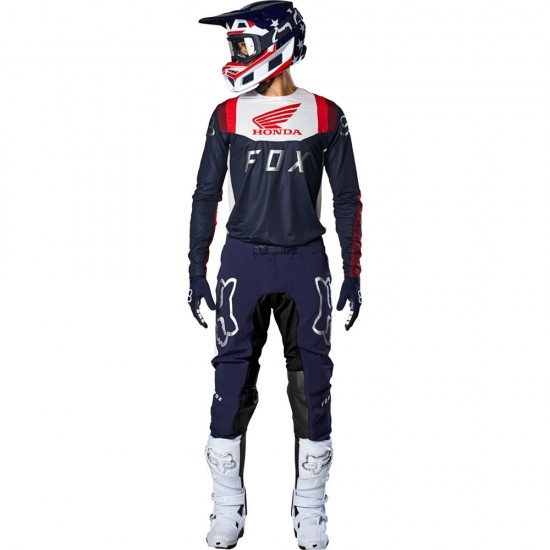 Maillot off road FOX Flexair 2020 Honda Navy / Red