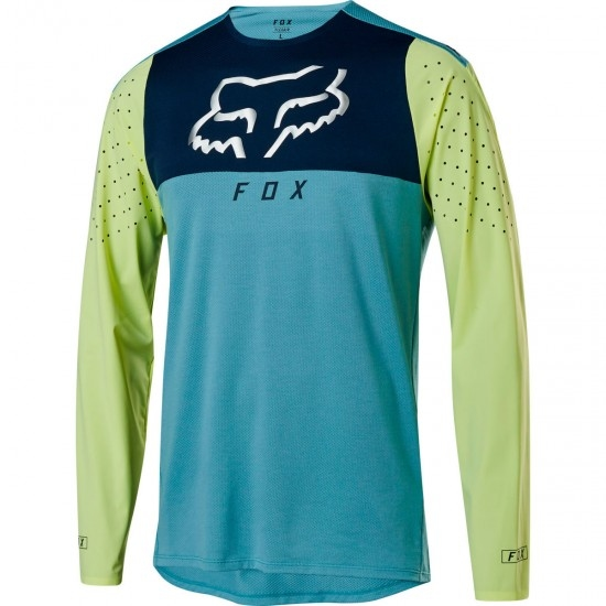 FOX Flexair Delta LS Foxhead Light Blue Jersey