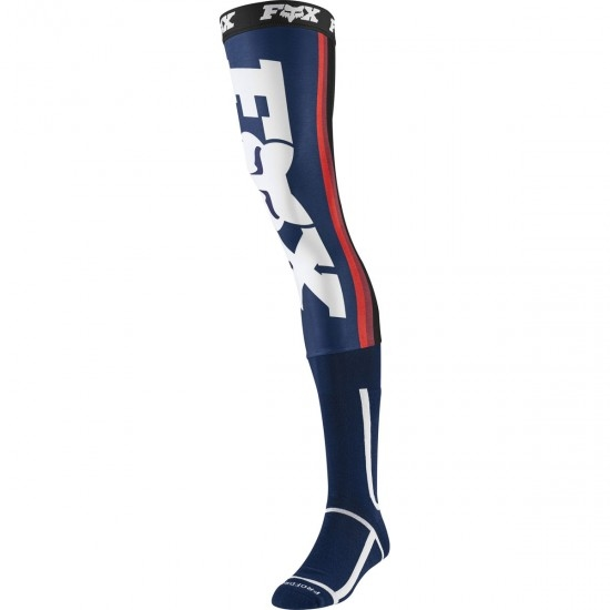 Chaussettes FOX Knee brace 2020 Linc Navy / Red