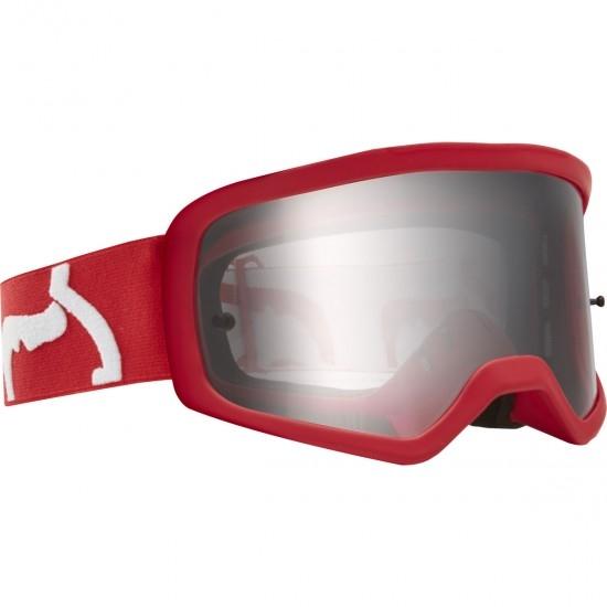 FOX Main II PC Junior Prix Flame Red / Clear Goggles