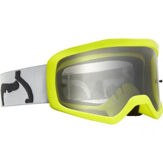 FOX Main II PC Junior Prix Grey / Clear Goggles