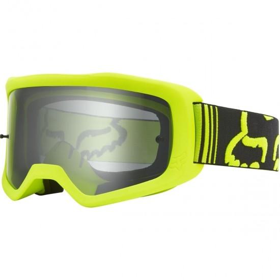 FOX Main II X Fluorescent Yellow / Dual Clear Goggles