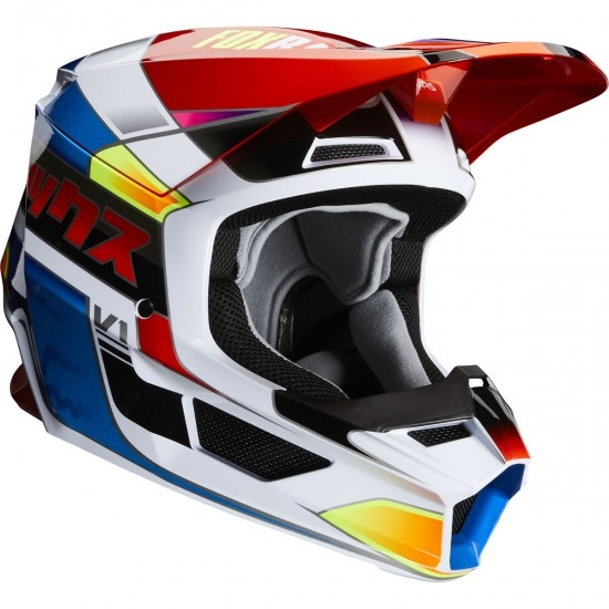 Casco FOX V1 Yorr 2020 Blue / Red