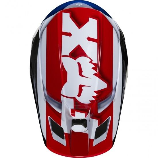 Casco FOX V2 Hayl 2020 Blue / Red