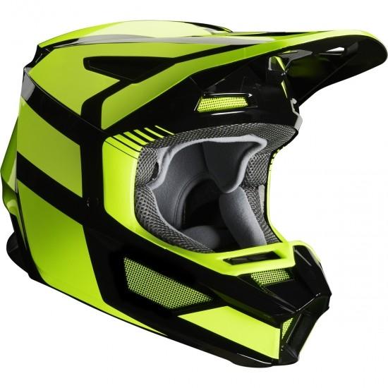 FOX V2 Hayl 2020 Fluorescent Yellow Helmet