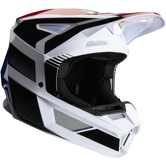 Casco FOX V2 Hayl 2020 Junior Blue / Red