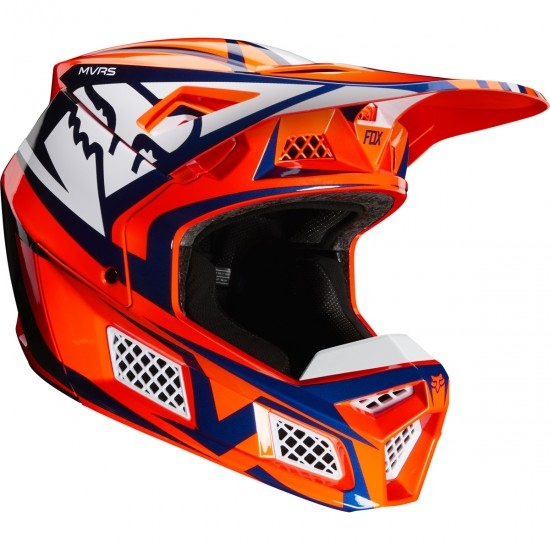 Casque FOX V3 Idol 2020 Orange / Blue