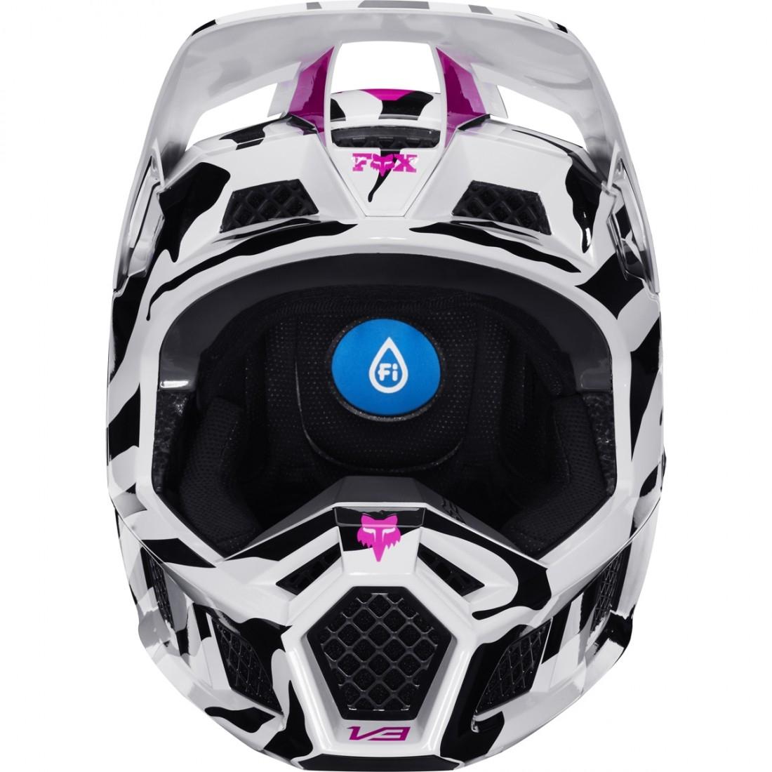 57877bbe FOX V3 2020 Zebra LE Helmet · Motocard