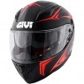 Casco GIVI 40.5 X-Carbon Matt Grey / Neon Red