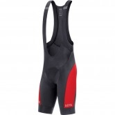 GORE C5 Bib Shorts + Black / Red