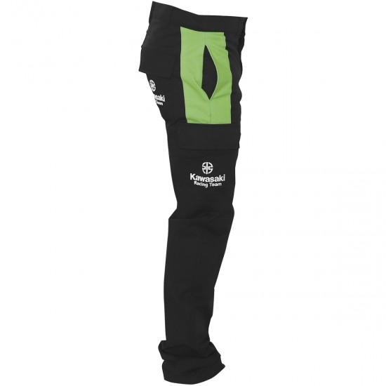 Pantalon KAWASAKI Replica KRT SBK 2019 Black / Green