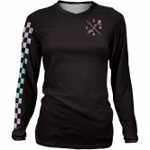 LOOSE RIDERS Lady L/S Checkers Black