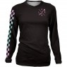 LOOSE RIDERS Lady L/S Checkers Black Jersey