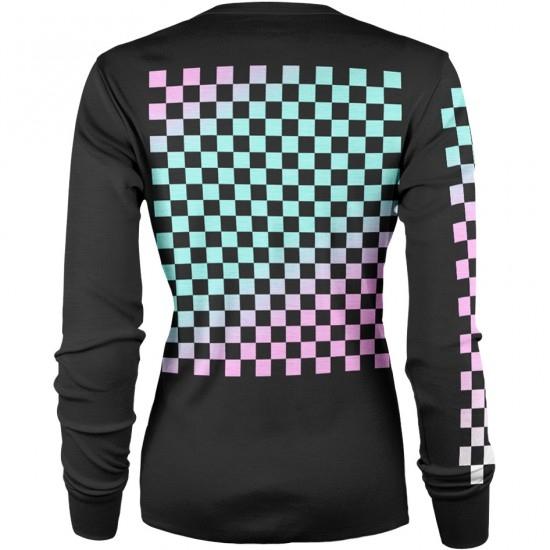 Lady L/S Checkers Black