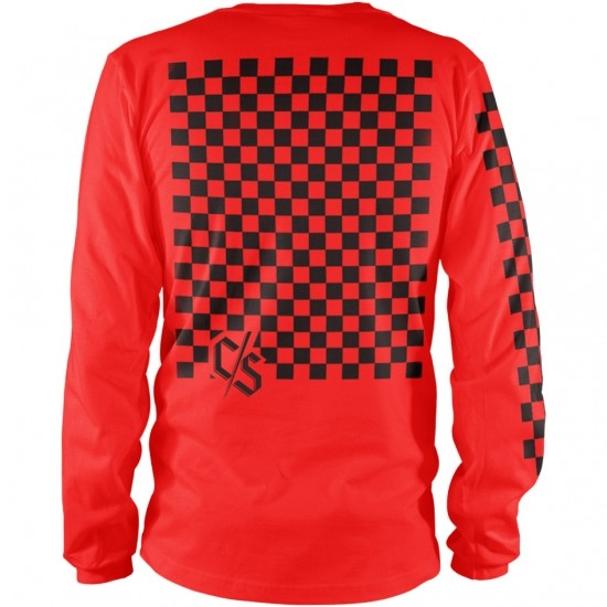 LOOSE RIDERS C/S Series L/S Check Red Jersey
