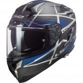 LS2 FF327 Challenger Carbon Konic Matt Carbon / Blue