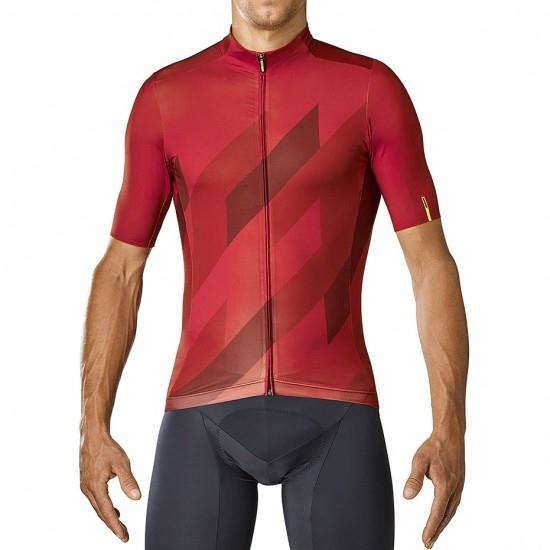 Bike Trikot MAVIC Cosmic Mosaic Red Dahlia