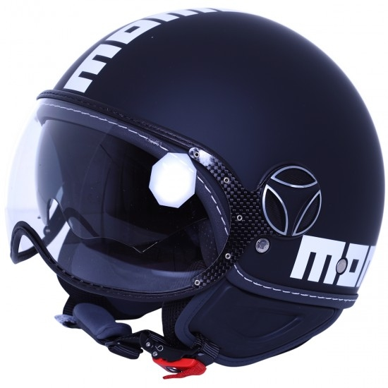 Casco MOMO FGTR Evo Black Matt / White