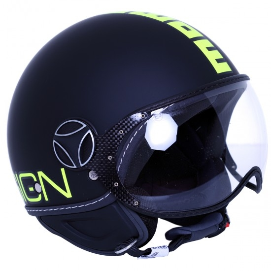 Helm MOMO FGTR Fluo Black Matt / Yellow Fluo