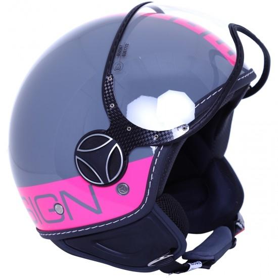 MOMO FGTR Fluo Grey / Fuxia Helmet