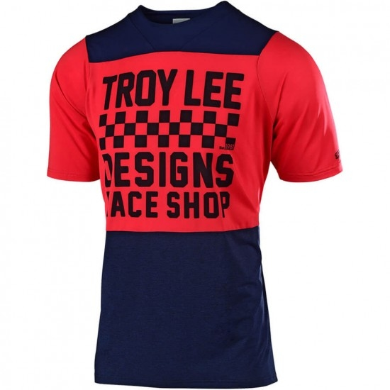Maillot TROY LEE DESIGNS Skyline Checkers Navy / Red