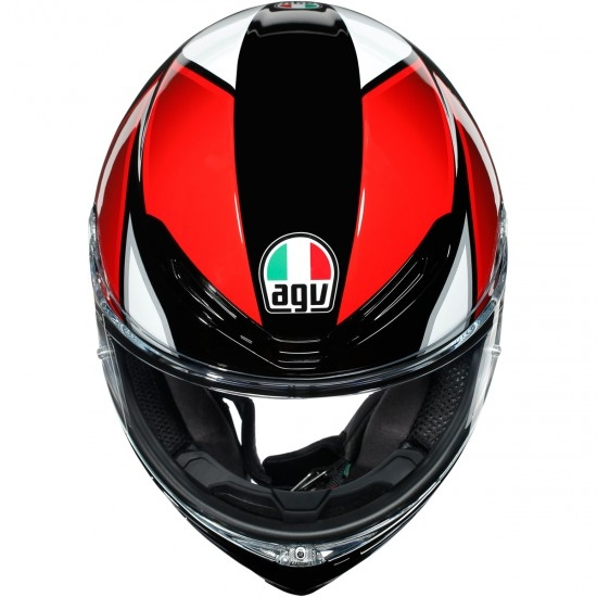 Helm AGV K6 Hyphen Black / Red / White
