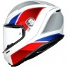 Casco AGV K6 Hyphen White / Red / Blue