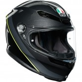 AGV K6 Minimal Gunmetal / Black / Yellow Fluo