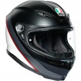 AGV K6 Minimal Matt Black / White / Red